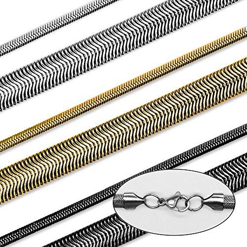 ®SoulCats chaîne serpent collier bracelet mis Curb chaîne en acier inoxydable noir