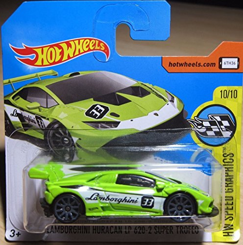 2017 Hot Wheels HW Speed Graphics Lamborghini Huracan LP 620-2 Super Trofeo Green 319/365 (Short Card)