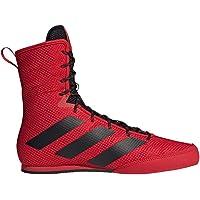 Adidas Box Hog 3 - Scarponi da boxe, colore: Rosso/Nero