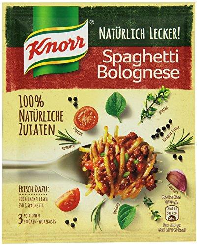 Knorr Natürlich Lecker Spaghetti Bolognese Fix 3 Portionen (21 x 41 g)