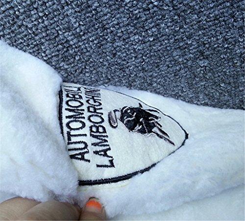 Saoirse Mode Damen 100% Echter Schaf Pelz Winter Warm Punk Jacke Mantel Weiß