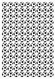 117 Aufkleber, Fußball, Sticker, 20 mm, aus PVC, Folie, bedruckt, selbstklebend, EM, WM, Bundesliga