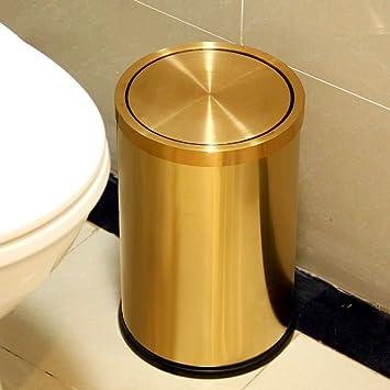 Ali Edelstahl Schütteln Haushalt Küche Badezimmer 9L Mülleimer ( Farbe :  Gold )