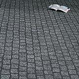 PVC Bodenbelag Kopfstein Pflaster Steine Granit Grau Breite 2 m (10,95 € p. m²)