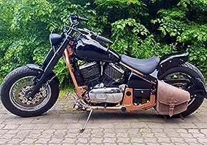 Odin Brown Satteltasche Harley Davidson Fatboy Schwingentasche Schwinge Rahmen Hd Orletanos Bikertasche Seitentasche Leder Braun Matt Echtleder Biker Rocker Starrahmen Rahmentasche Tasche Auto