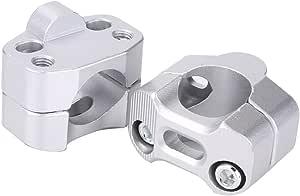 Qiilu Aluminiumlegierung 28mm 1 1 8 Motorrad Lenkergriff Fett Bar Mount Schellen Riser Weiss Auto