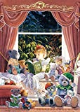 Unbekannt Puzzle 1000 Teile - Fairytales - Märchen Geschichten im Kinderbett - Puppe Plüschtiere Kinderzimmer vorlesen Gute Nacht Geschichten