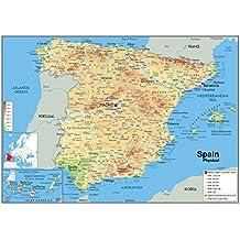 /Pack mit 3/Schablonen Design Karte Spanien 15/x 2.5/cm CSP 151512/