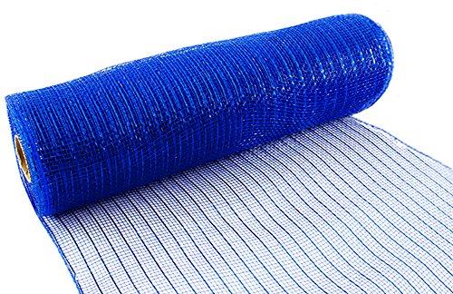 Eleganza Royal Nr. 18Metallic Deco Mesh, blau, 25cm x 9,1m Metallic-poly-mesh