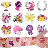 German Trendseller® - 36 x tatouages temporaires My Pony┃tatouages ephémères┃l'anniversaire d'enfant┃petit cadeau┃ motifs avec accessoired de chevaux