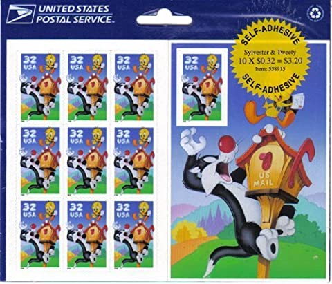Looney Tunes Sylvester and Tweety Collectible Stamp Sheet by USPS