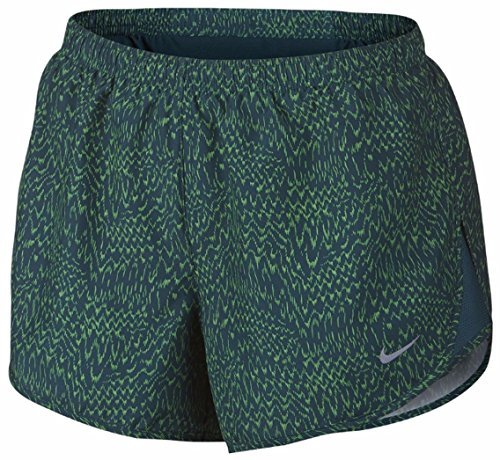 Shorts Print Nike Tempo (Nike Women's Dry Tempo Print Running Short 799711 (X-Small, Midnight Turquoise/Reflective Silver))