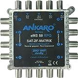 Ankaro Multischalter eMS 58 RPQ Quad und Quattro LNB tauglich- stromsparend mit ZERO-Watt Standby-Funktion