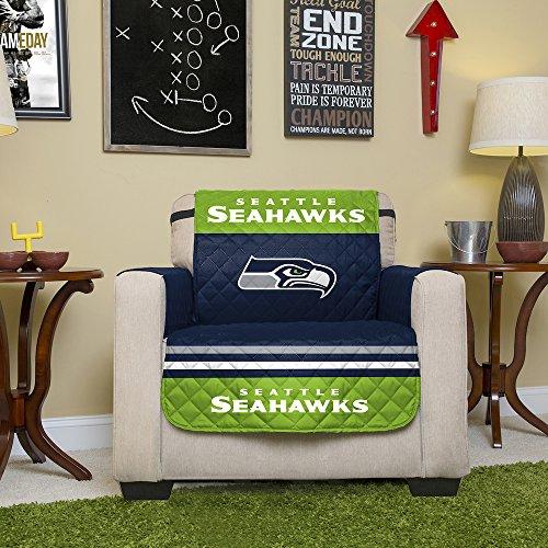 NFL Seattle Seahawks Möbelschutz mit elastischen Riemen, 198 x 167 cm