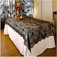 Spider Web Table Cloth Halloween Cobweb Lace Fabric Runner Cover