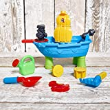 FunkyBuys® New Deluxe Childrens Kids Beach Pirate Ship Sand And Water Table Work Pit Desk Play Moulds Toy Game Set