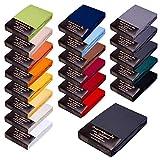 SPANNBETTLAKEN WASSERBETTEN BOXSPRINGBETTEN 180x200 bis 200x220 ca. 170gr Öko Tex Zertifikat Avantgarde 100% Baumwolle 19 Farben (18-anthrazit)