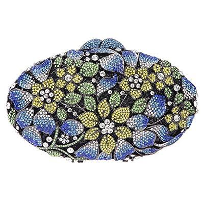 Bonjanvye Oval Shape Studded Sakura Purses Evening Clutch Bags for Ladies