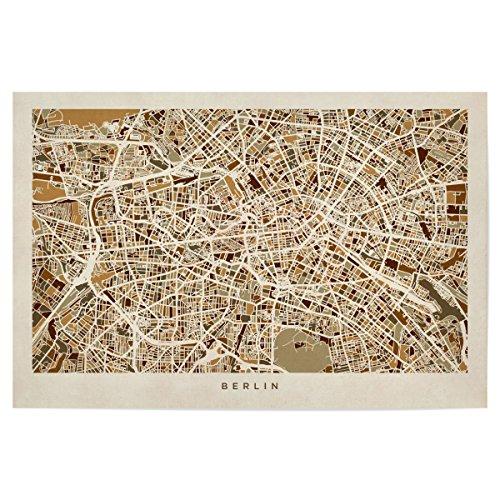 artboxONE Poster Berlin Germany Street Map von Künstler Michael Tompsett