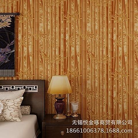 BTJC Fondos no tejido neo-clásico y fresco grano bambú restaurante Pavilion resort granja papel pintado de bambú , 86092