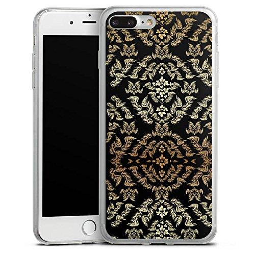 Apple iPhone 8 Slim Case Silikon Hülle Schutzhülle Ornamente Muster Blumen Silikon Slim Case transparent