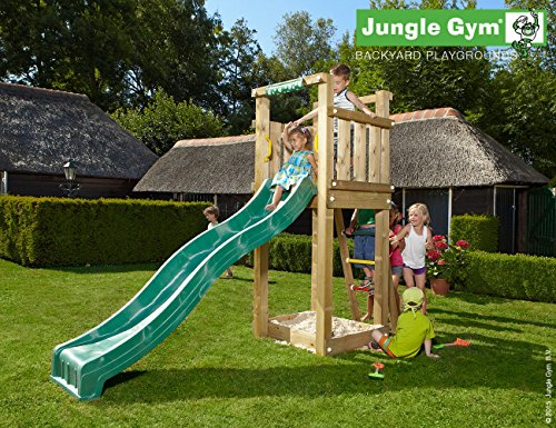 Preisvergleich Produktbild Spielturm Jungle Tower mit gelber Wavy Star XL Rutsche