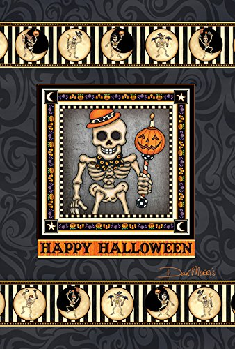 Toland Home Gartenskelett Season 71,1 x 101,6 cm Dekorative gruselige Halloween Mond Haus Flagge