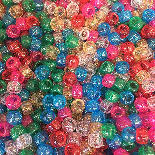 Traditionnel Scintillement Pony Mélange de perles 9 mm x 6 mm