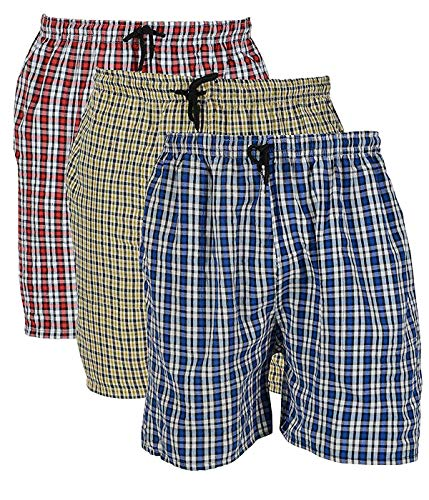BIS Creations Men's Cotton Boxer (Shorts Pack Of 3_Multicolor_Medium)