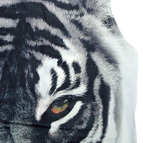 ROPALIA Femme Mini Robe Imprime Lache sans Manches de 10 motifs S M L XL. Tigre