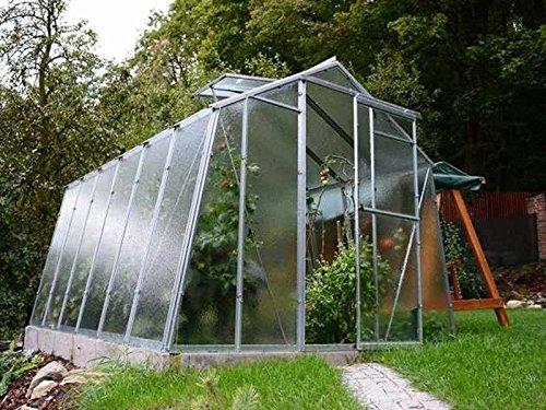 myowngreen Gewächshaus Hobby L Typ 6 Größe 247 x 595 x 202 cm (B x L x H) = 14,70 m²