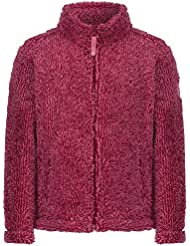 Regatta mujer niñas Fluffy chaqueta de forro polar, Infantil, color DARK-CERISE, tamaño 3-4 Years - Chest 55-57cm (Height 98-104cm)')