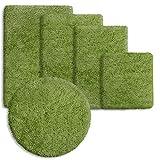 Sky Badematte Uni | Grün - Öko-Tex 100 zertifiziert | verschiedene Größen - 95cm (rund)