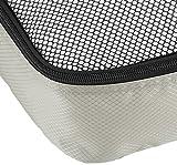 AmazonBasics Kleidertaschen-Set, 4-teilig, 2 mittelgroße und 2 große Kleidertaschen, Grau - 5