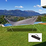 Outsunny Sunshade UV Protection Waterproof Awning Canopy Outdoor Camping Tent Tarp Hiking Shelter (Brown)