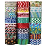 UOOOM 24 Rolls Beautiful Washi Tape Masking Tape deko Klebeband Buntes...