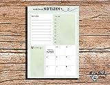Mes Notes–Bloc-notes A5Vert to Do–Semainier–Liste des Courses–Menu Planer