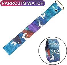 Big-Mountain 🔮🔮🔮Papier Armbanduhr | LED Wasserdichte Uhr | Tyvek Kreative Coole Papierband Digitaluhren Paper Watch | Kalender Datum Display Papieruhr | 35mm