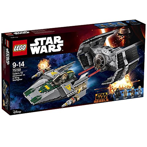 Lego Star Wars 75150 - Vader\'s Tie Advanced Vs. A-Wing Starfigh