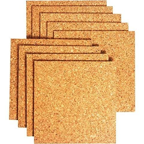(PACK OF 8)**HIGH QUALITY**Bradforth Cork Tiles, Natural Frameless, 12x12in by Bradforth