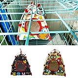 quanjucheer Cartoon Tier Vogel Papagei Zelt, Käfig, Warm, Bett mit mit Weicher Plüsch mit Schaukel Spielzeug