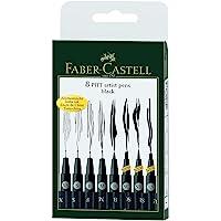 Faber-Castell 167137 Feutre PITT artist pen noir étui de 8