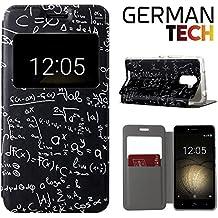 German Tech® - Funda carcasa tipo Libro con función soporte sin solapa para Bq Aquaris U Plus, Protege y se adapta a la perfección a tu Smartphone con ventana S-View con la que podrás ver todas tus notificaciones. Fórmulas Matemáticas.