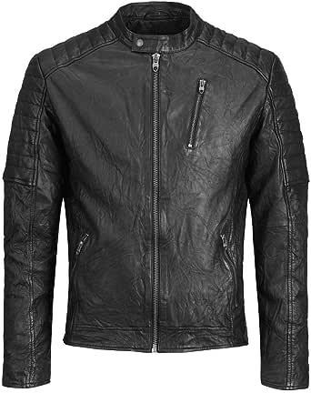 Jack & Jones Men's Jjerichard Lamb Leather Jacket Noos