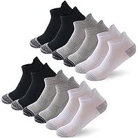 6/12 Pairs Trainer Socks for Men and Women Cotton Sports Socks for Men and Women Nonslip Ankle Athletic Socks Running…