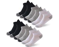 6/12 Pairs Trainer Socks for Men and Women Cotton Sports Socks for Men and Women Nonslip Ankle Athletic Socks Running Socks