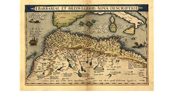 Carte Algerie Mauritanie.Carte Ancienne De La Barbarie Afrique Du Nord Maroc