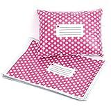 50st Versandtaschen Versandbeutel Versandtueten blickdicht Pink Polka Dots 305X406MM