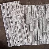 3d stein Tapete Vintage stein ziegelsteinmuster Aufkleber Wasserdichte simulation kultur italienischen stil wandsticker für hotel restaurant kleidung barber shop-B 53x1000cm(21x394inch)