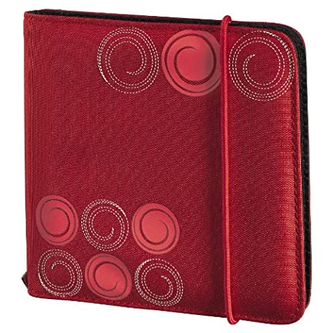 Hama Up to fashion Étui en nylon pour 24 CD/DVD Rouge